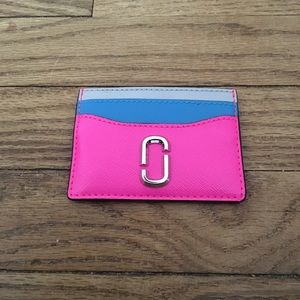 Marc Jacobs Pink Blue Gray Card Holder/Wallet